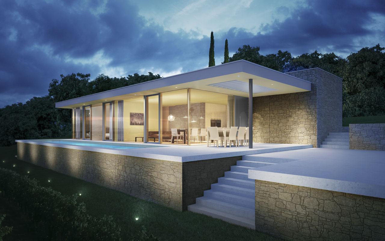 Villa loona lago di garda borgo il melograno for Progetti di casa personalizzata